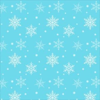 メリークリスマス。青い背景にスノーフレークパターン