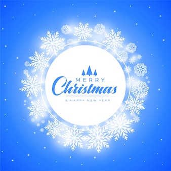 Merry christmas snowflakes decorative frame background