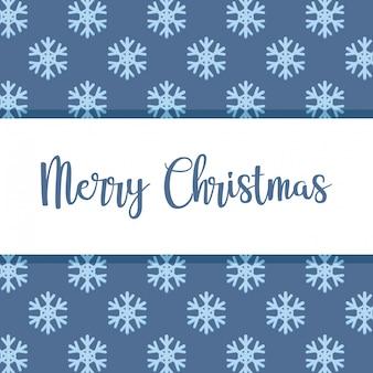 Merry christmas snowflakes decorative pattern