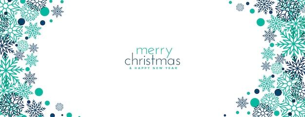 Merry christmas snowflakes festival banner