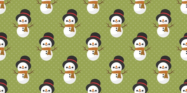 Merry christmas, snowman santa claus seamless pattern.