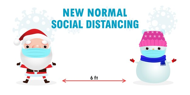 Merry christmas social distancing