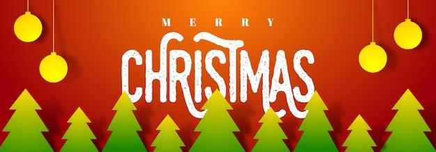 Merry christmas social media header.
