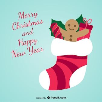 Merry christmas sock vector