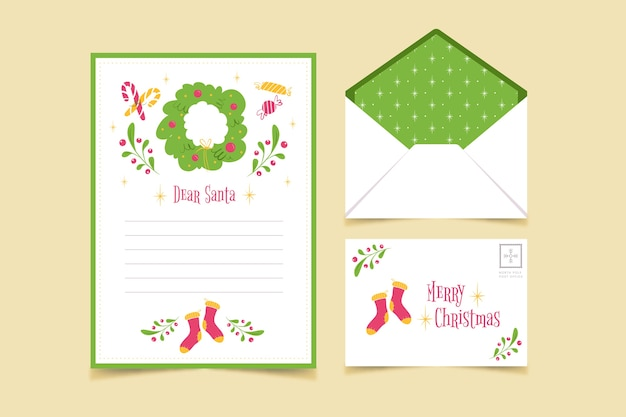 Merry christmas stationery template