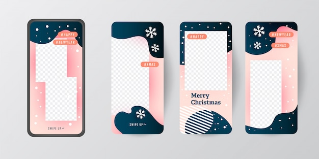 Merry christmas stories template