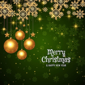 メリークリスマススタイリッシュなモダンな緑の光沢のある背景
