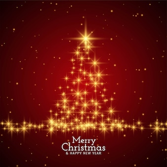 Merry christmas stylish modern red background