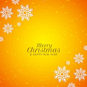 Merry christmas stylish modern yellow background