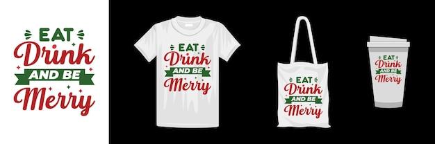 メリークリスマスのtシャツのデザインテンプレート。クリスマスのレタリング引用tシャツのデザイン。