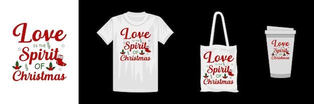 メリークリスマスのtシャツのデザインテンプレート。クリスマスレタリングtシャツのデザイン。