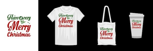 メリークリスマスのtシャツのデザインテンプレート。