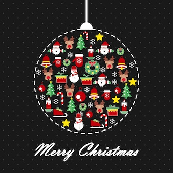Merry Christmas template for background