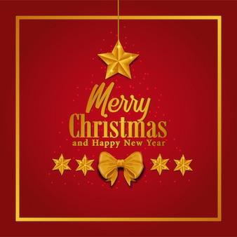 Merry christmas template star