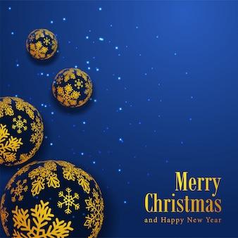 装飾とメリークリスマスのテンプレート