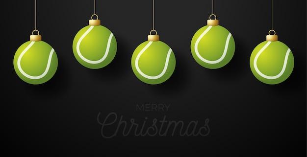 С рождеством христовым теннисная открытка
