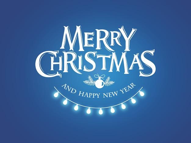 메리 크리스마스 텍스트 붓글씨 레터링 디자인 카드 템플릿입니다. 붓글씨 수제 글자.
