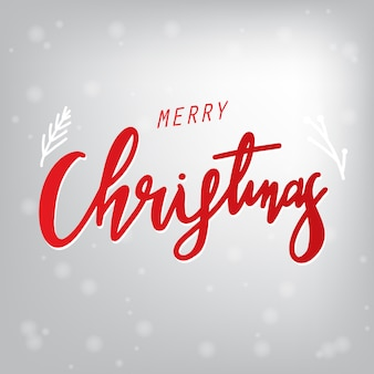 Merry Christmas text Calligraphy Lettering design, Holiday's Background
