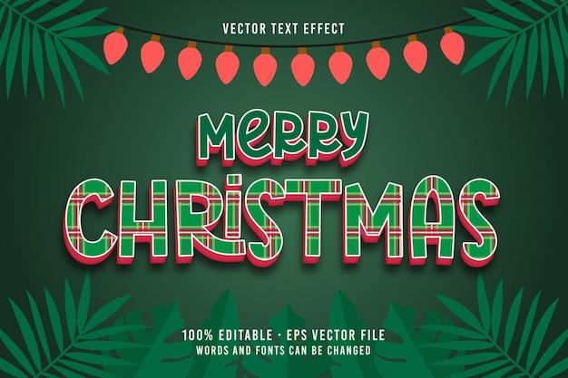 Merry christmas text editable font effect