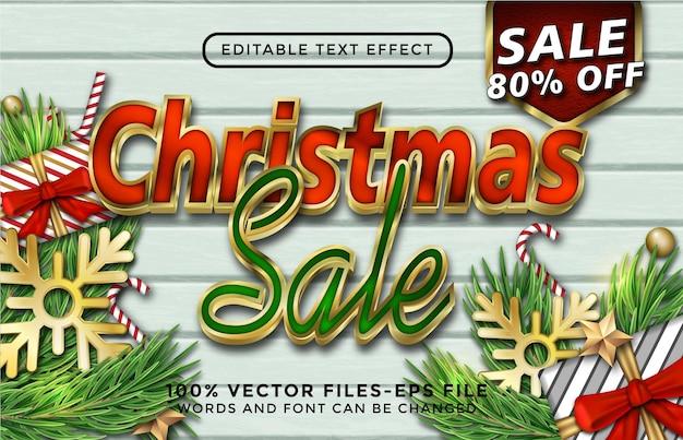 С рождеством христовым текст. редактируемый текстовый эффект премиум векторы