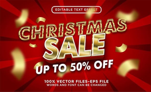 Merry christmas text. editable text effect premium vectors