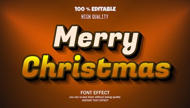Merry christmas text effect, editable font