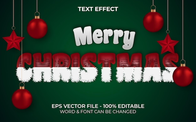 Merry christmas text effect editable text effect