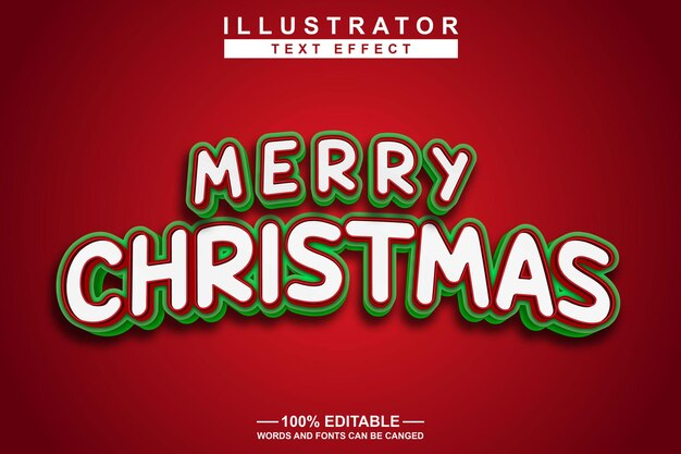 Merry christmas text effect editable