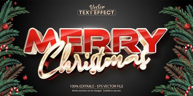 С рождеством христовым текст, эффект редактируемого текста в блестящем стиле розового золота на черном фоне градиента