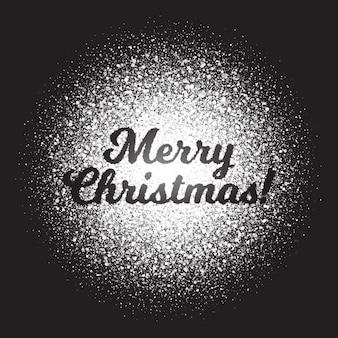 Счастливого рождества текст с белыми мерцающими частицами света