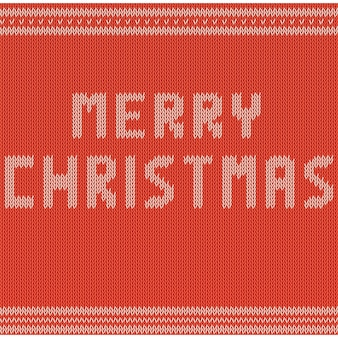 Merry christmas. texture red sweater.
