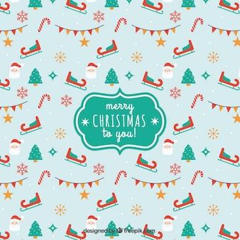 キュートなスタイルで、あなたの背景にメリークリスマス