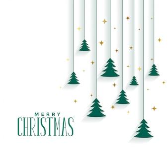 Merry christmas tree elegant