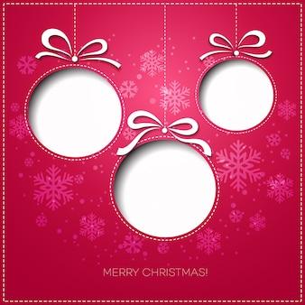 Поздравительная открытка с рождеством христовым. бумажный дизайн. иллюстрация.
