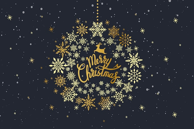 Merry christmas typography design