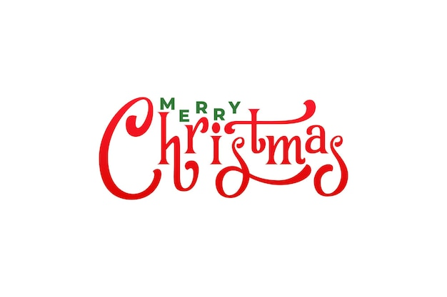 Merry christmas typography. holiday xmas type lettering design.