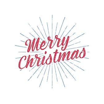 Merry christmas typography label