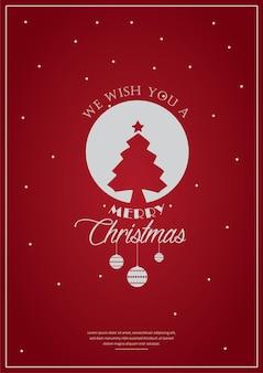 Поздравительная открытка или приглашение и праздничные пожелания с рождеством
