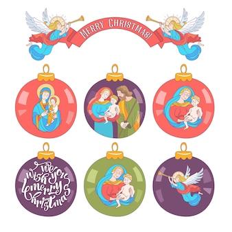 Merry christmas. vector christmas ball