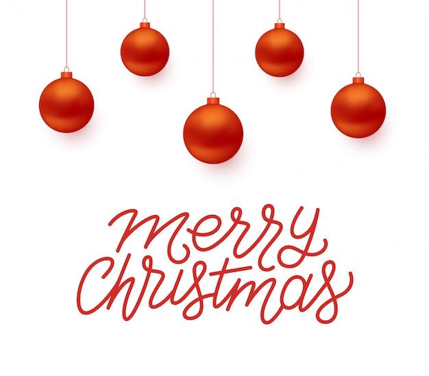 Merry christmas vector greeting card design