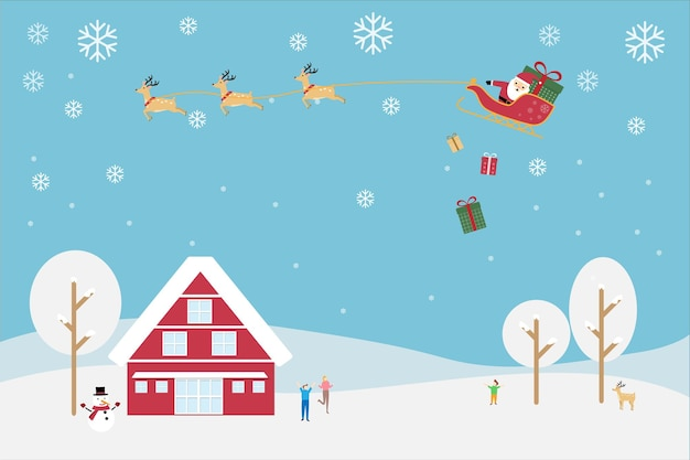Merry christmas vector for happy new year greeting card or banner