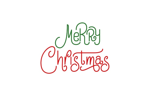 Merry christmas vector text lettering. holiday xmas typography design.