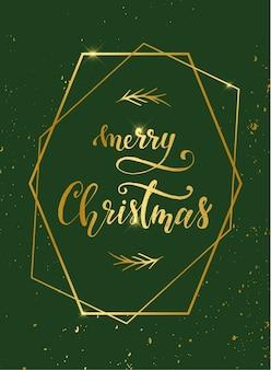 Merry christmas vintage greeting card design