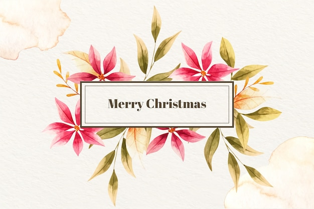 Merry christmas in watercolor style