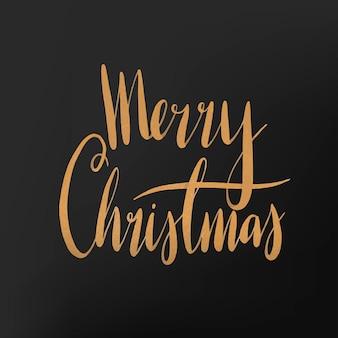 Merry Christmas watercolor typography vector
