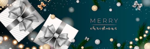 メリークリスマスのウェブバナークリスマスと新年あけましておめでとうございます2022年の休日のお祝いのポスター