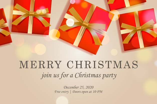 Merry christmas web page template