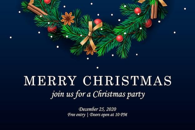 Merry christmas. web template with christmas wreath, .