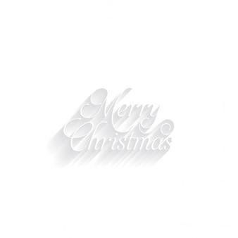 메리 크리스마스 흰색 배경