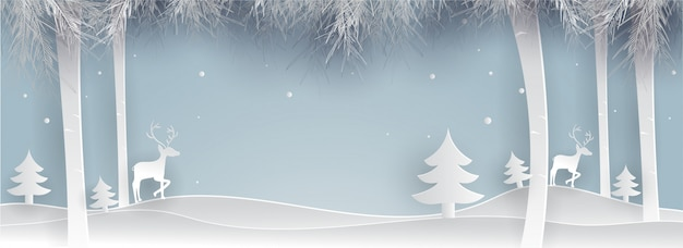 Merry christmas winter background.